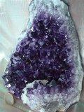 Amethyst met zeer donkere kristallen Uruguay_