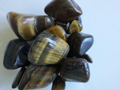 Trommelstenen Tijgeroog 50 gram