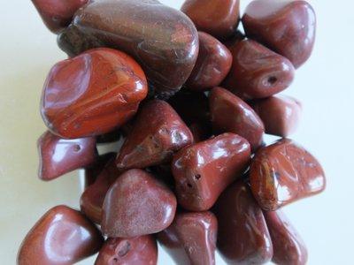 Trommelstenen Jaspis Rood 50 gram