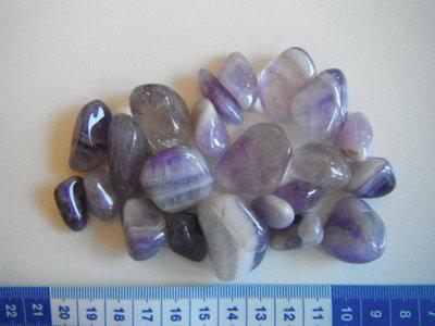 Trommelstenen Amethyst  Lot 134 gram