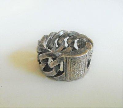 Oud zilveren Boeddha tot Boeddha ring maat 17.5