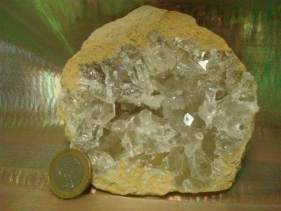 Celestien (Coelestien) kristallen wit Tunesië