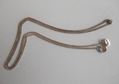 Zilveren collier 45cm