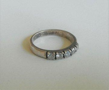 Oud zilveren ring maat 17.5